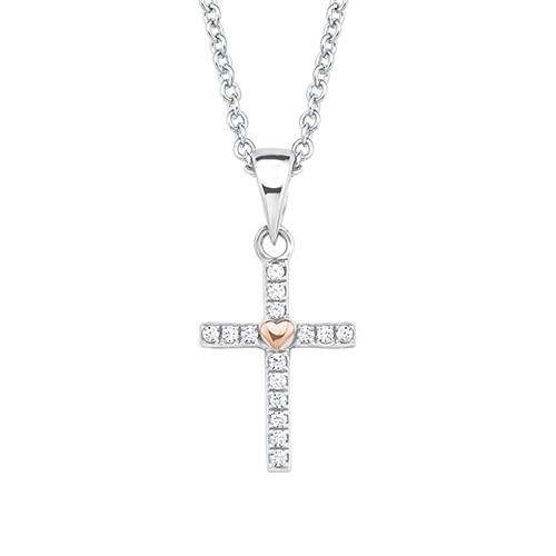 Halsschmuck Kreuz Silber