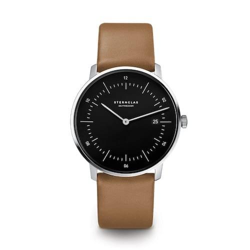 NAOS schwarz silber / Premium braun