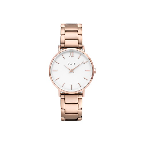 Minuit 3-Link Rose Gold White